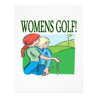 """Golf para mujer folleto 8.5"""" x 11"""""""