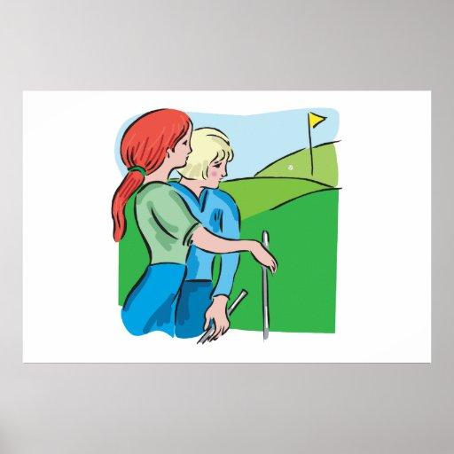 Golf para mujer impresiones