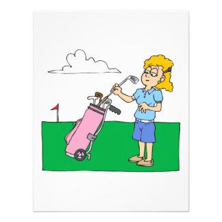 Golf para mujer invitación