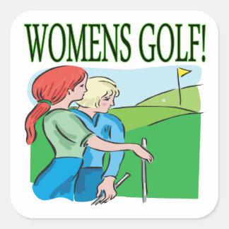 Golf para mujer pegatina cuadrada