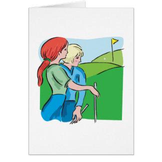 Golf para mujer tarjeta de felicitación