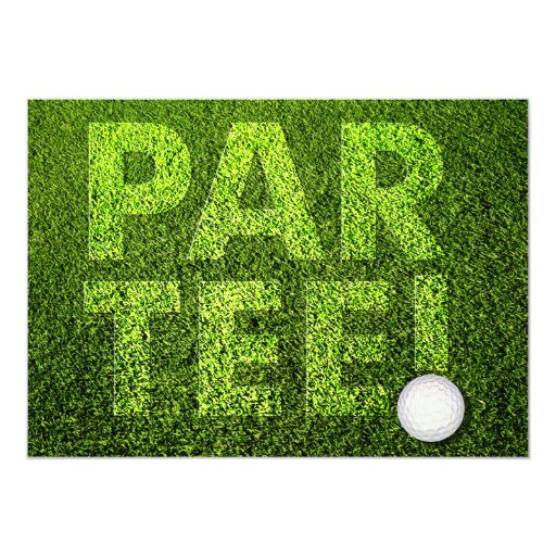 "Golf Party 5"" X 7"" Invitation Card"