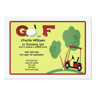 Golf Party Card
