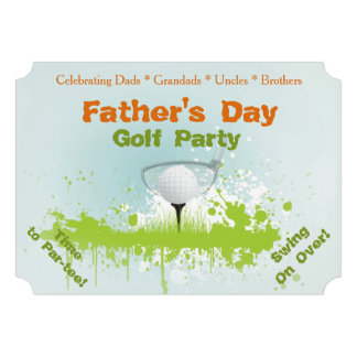 Golf Party Fathers Day Invitation Personalized Announcements