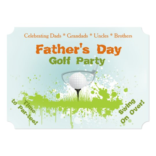 Golf Party Fathers Day Invitation