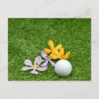 Golf Party Invitation Postcard