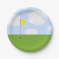 golf party paper plate