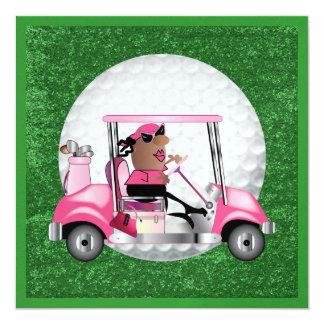 Golf Party - SRF 5.25x5.25 Square Paper Invitation Card