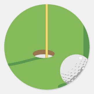 Golf Pegatinas Redondas