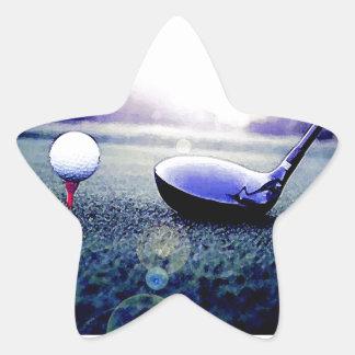 Golf Calcomanías Forma De Estrella Personalizadas