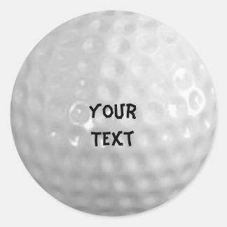 Golf Etiquetas Redondas
