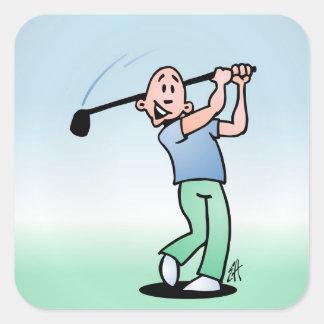 Golf Pegatina Cuadrada