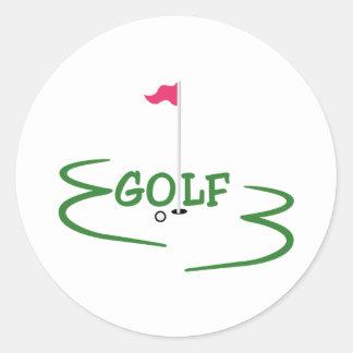 Golf Pegatina Redonda