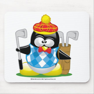 Golf Penguin Mouse Pad