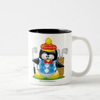 Golf Penguin Two-Tone Coffee Mug