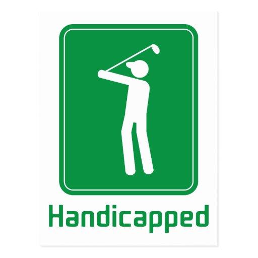 Golf - perjudicado tarjeta postal