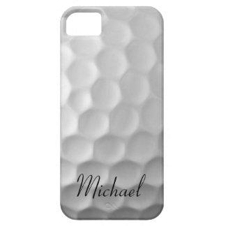 Golf personalizado del blanco del caso del iPhone Funda Para iPhone 5 Barely There