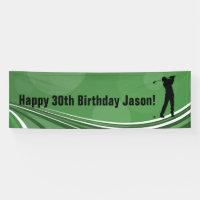 Golf Personalized Birthday Banner