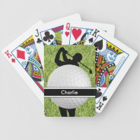Golf Personalized Playing Cards