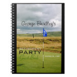 Golf - Personalized Retirement Party Guest Book Notebooks