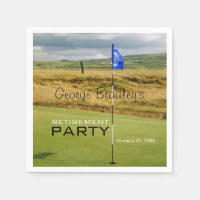 Golf Personalized Retirement Party Paper Napkin