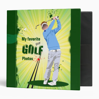 Golf photo album. 3 ring binder