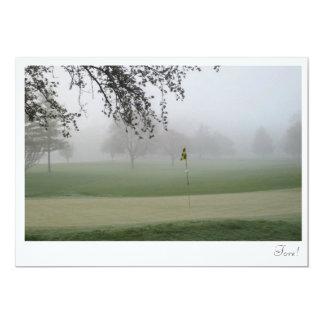 Golf Photo Fore Invitation Template