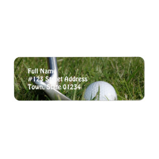 Golf Photo Mailing Label