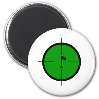 Golf Pin in the Crosshairs Magnet