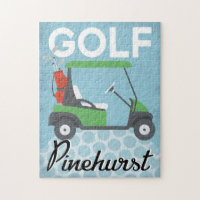 Golf Pinehurst - Retro Vintage Travel Jigsaw Puzzle
