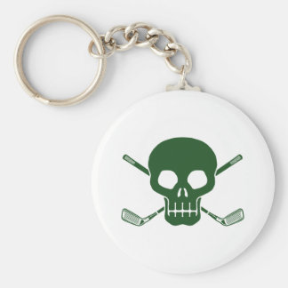 Golf Pirate Basic Round Button Keychain