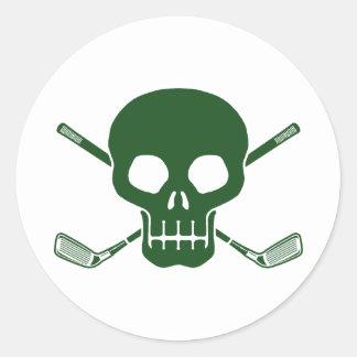 Golf Pirate Classic Round Sticker