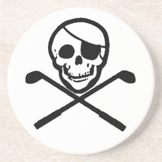 Golf Pirate Jolly Roger Coasters