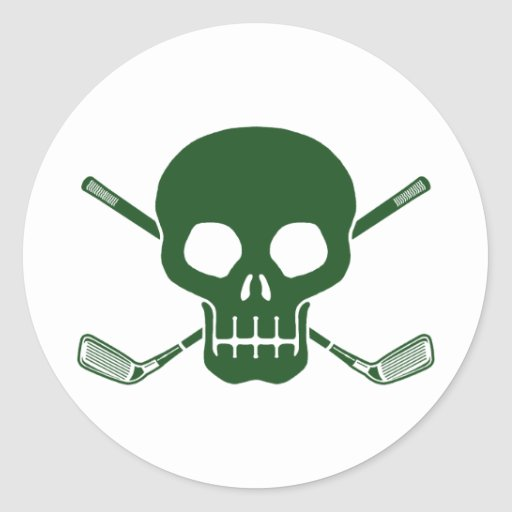 Golf Pirate Round Stickers