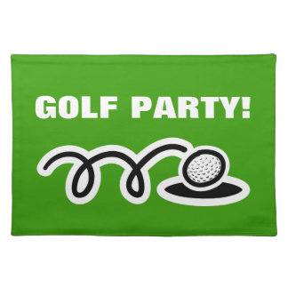 Golf placemats for themed golfing party | Custom