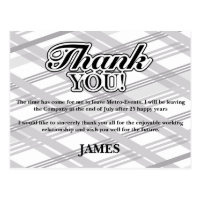 Golf, Plaid Thank You Cards