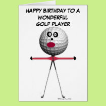 Golf Player Birthday Card