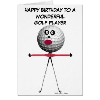 Golf Player Birthday Greeting Card