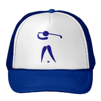 Golf Player Blue White Sports, add text and color Trucker Hat