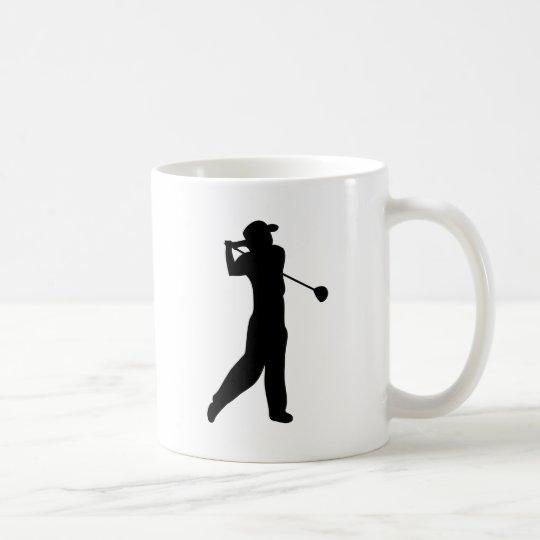 golf player coffee mug
