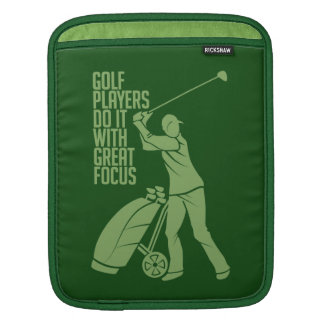 GOLF PLAYER custom iPad sleeve