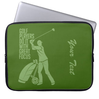 GOLF PLAYER custom laptop sleeve