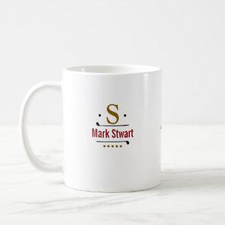 golf player custom monogram coffee mug