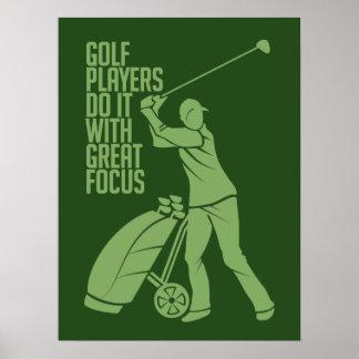 GOLF PLAYER custom poster