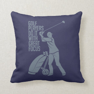 GOLF PLAYER custom throw pillow