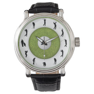 Golf Player Golfer Grass Design Watch