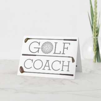 Golf player Happy Birthday modern personalized Card