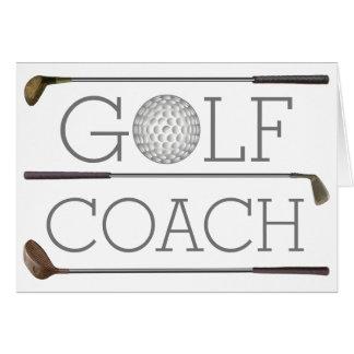 Golf player Happy Birthday modern personalized Card