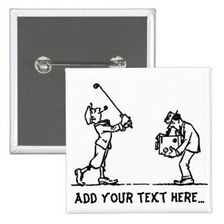 Golf player - Like a Boss Button