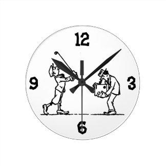 Golf player - Like a Boss Round Clock